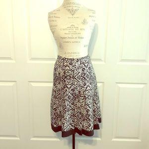 Ann Taylor Black & White Fit & Flare Skirt